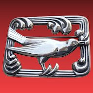 Art Deco Sterling Coro NORSELAND Bird Pin