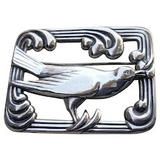 Art Deco Sterling Coro NORSELAND Bird Pin