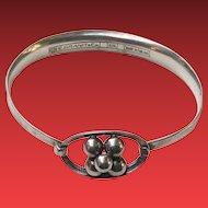 Erik Granit Finland Modernist Sterling Silver Bracelet