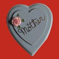 Unusual Plastic WW2 Heart Shape Mother Photo Slide Locket Pin