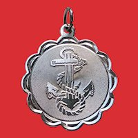 Vintage USN Navy Insignia Sterling SWEETHEART Charm