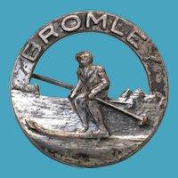 Vintage BROMLEY Mtn. Ski Resort VT Downhill Skier Pin