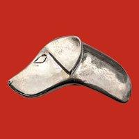 Roger Nichols Studio Sterling Labrador Dog Head Pin