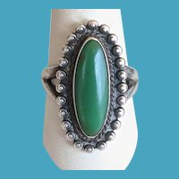 Vintage Sterling Green Turquoise Ring BELL Trading Company Souvenir