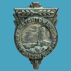Art Deco GRAND CANYON National Park Travel Souvenir Pin