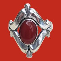 Vintage BELL Trading Company Sterling CARNELIAN Ring