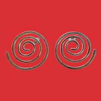 Vintage Ed Levin Sterling Modernist Spiral Earrings