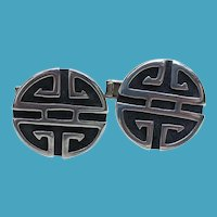 TAXCO Sterling Artist Signed Modernist Cufflinks