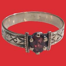 Antique Victorian 10K Rose Gold Garnet Ring