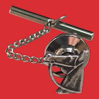 Vintage Sterling Horse Head Bridle Tie Tack Lapel Pin