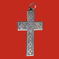 Large Sterling Gothic Byzantine Style Cross