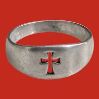 James Avery Sterling Silver Cut Out CROSS Ring Band Size 9