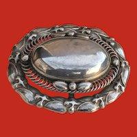 Art Deco Large Oval Georg JENSEN Sterling Pin 109 Denmark