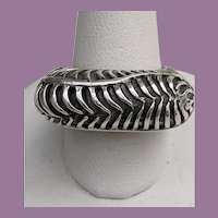 Vintage DIAN MALOUF Sterling Silver Statement Ring 6 1/4
