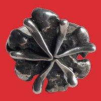 Luella C. Schroeder Mid Century Modernist Sterling SPUTNIK Flower Ring