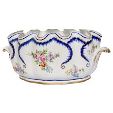 19th Century French Porcelain Scalloped Edged Bowl