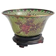 20th Century Plique A Jour Chinese Bowl