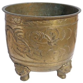 Vintage Chinese Cache Pot