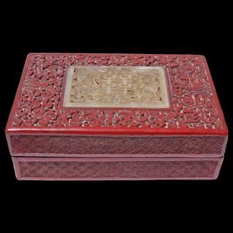 19th Century Japanese Cinnabar Box