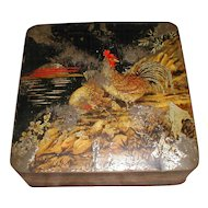 Lovely 1925 British Biscuit Tin LACQUER Huntley & Palmers