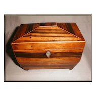 Lovely Madagascar Rosewood English Tea Caddy