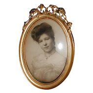 Lovely Antique Photograph Frame, Tabletop, Domed Glass