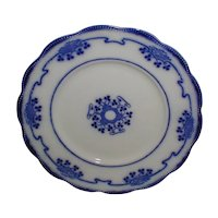Set of 6 Flow Blue Dessert Plates LORNE Grindley c. 1900