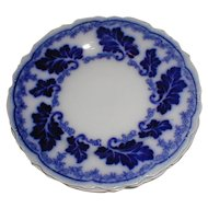 "Lovely 7"" Flow Blue  Plate NORMANDY Johnson Bros. England"