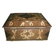 Animal Print LIZARD SKIN British Biscuit Tin, Wm. Crawford (2 Avail)