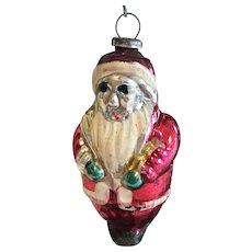Vintage Glass Christmas Ornament, Santa Claus