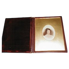 Gorgeous Portrait of Lady in Pressed Paper Case