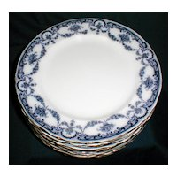 "Lovely Flow Blue 9 3/4"" Dinner Plate REX Adderleys (11 available)"