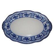 Lovely Antique Flow Blue Platter, Melbourne, W. H. Grindley 1900