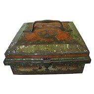 Antique Collectible British Biscuit Tin, JEWEL CASE, Huntley & Palmers, 1905