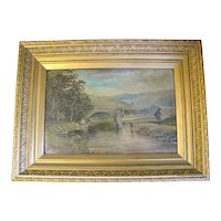 Lovely Framed Landscape Oil Painting, Dated 1885, Signed