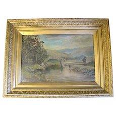 Lovely Framed Landscape Oil Painting, Dated 1885, Signed