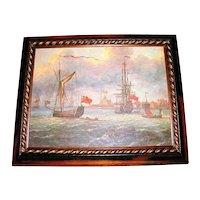 Lovely Framed Seascape Print on Canvas