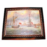 Lovely Framed Seascape Print on Canvas