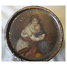 Early Round British Sweets Tin, Rowntree, Masters' Painting