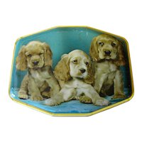 Cocker Spaniel Puppies, English Toffee Tin