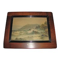 "Lovely Vintage Framed SeaScape Print ""The Lizard Head"""