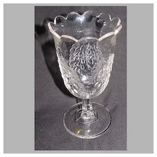 Early American Pressed Glass Spooner, BARBERRY