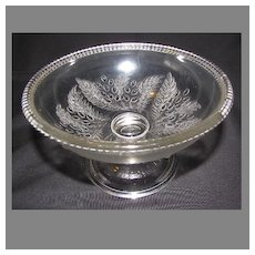 Early American Pressed Glass Compote, BARBERRY