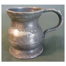 Early British Pewter Bulbous Measure, Gaskell & Chambers Birmingham