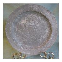 Antique Pewter Plate, British, Unreadable Marks