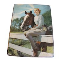 1950's Burton's Gold Medal Biscuits Tin, Girl & Horse