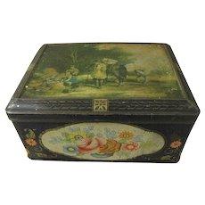Lovely Large Colman's Mustard Tin Box, HARVEST TIME William Shaver