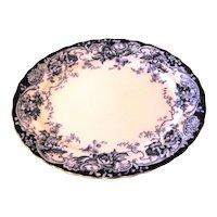 Lovely Large Flow Blue Platter, CHATSWORTH, Keeling & Co.