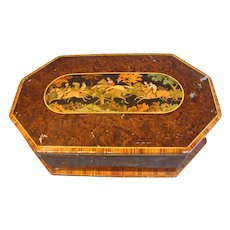 Lovely Huntley & Palmers Biscuit Tin, Marquetry Horse Race
