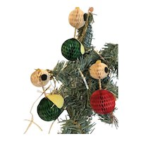 Unusual Vintage Christmas Ornaments, Group of 3 Chicken Angels, Japan
